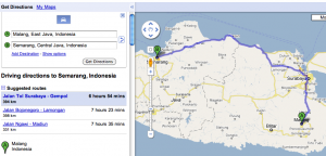 Google Map Malang - Semarang