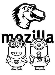 MozillaMinionBWSketch