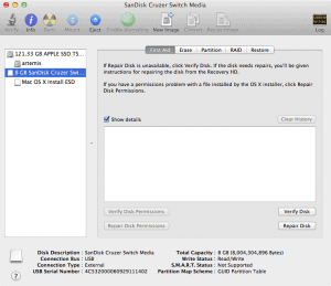 Open Disk Utility, select your USB drive and choose Erase tab