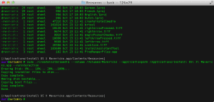 I go inside the installer directory, therefore the command will be a lil bit different for you