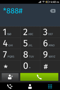 open dialer app can make USSD call *888# to my operator to check the prepaid balance