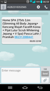 Spam Home Spa Beda MSISDN
